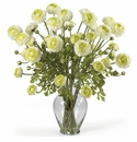 "24"" Ranunculus Liquid Illusion Silk Flower Arrangement - Cream"