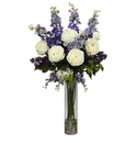 Rose, Delphinium and Lilac Silk Flower Arrangement