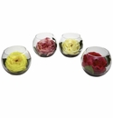 Rose w/Bubble Vase (Set of 4)