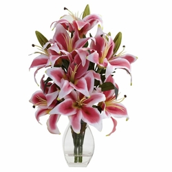 Rubrum Lily w/Decorative Vase