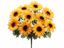 "Set of 12 - 13"" Silk Sunflower Bushes"
