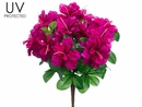 "Set of 12 - 15"" UV Protected Outdoor Artificial Azalea Bushes"