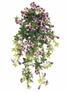 "Set of 12 - 17"" Artifical Mini Silk  Petunia Flower Hanging Bushes (shown in purple)"