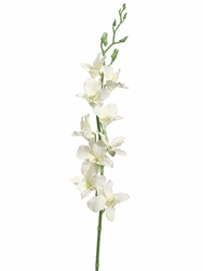"Set of 12 - 35.5"" Artificial Silk Dendrobium Orchid Flower Spray"