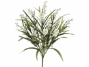 "Set of 12 - Artificial 22"" Wild Flower Bush - (Shown in Green/Cream)"