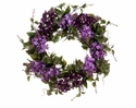 "Set of 2 - 22"" Lilac Artificial Flower Wreath Arrangement"