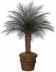 Set of 2 - 4' Outdoor Artificial Areca Palm Trees - Non Potted 33 Fronds