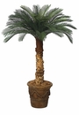 Set of 2 - 4' Outdoor Artificial Cycas Palm Trees - Non Potted 36 Fronds