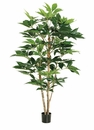 Set of 2 - 5' Artificial Schefflera Tree with 317 Leaves in Pot