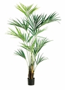 Set of 2 - 7.5 ft Kentia Palm Silk Trees with Real Palm Trunks