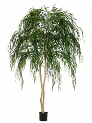 Set of 2 - 7' Artificial Weeping Willow Trees
