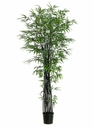 Set of 2 - 7' Black Silk Bamboo Trees