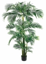 Set of 2 -7' Tropical Silk Kentia Palm Tree in Plastic Pot
