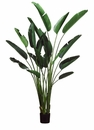 Set of 2 - 8' Artificial Bird of Paradise Plants in Pot