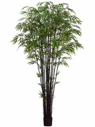Set of 2 - 8' Artificial Black Bamboo Trees