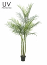 Set of 2 - 8' Outdoor Artificial Areca Palm Trees