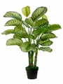 "Set of 2 - Artificial Silk 34"" Eva Apple Leaf Plant"