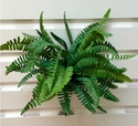 Set of 2 - Outdoor Artificial Fern Plants - 19""