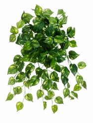 "Set of 36 - 25"" Artificial Silk Pothos Hanging Bushes w/126 Leaves"
