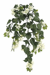 "Set of 4 - 36"" Outdoor Artificial Bougainvillea Flowers - Cream"