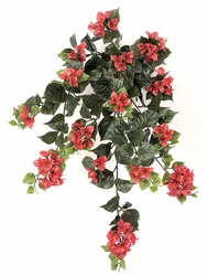 "Set of 4 - 36"" Outdoor Artificial Bougainvillea Flowers - Red"
