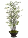 Set of 4 - 6.5' Artificial Bamboo Trees In Decorative Containers