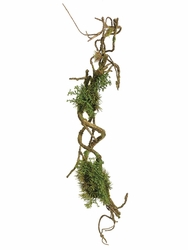 "Set of 4 - Artificial Moss Branch - 24"" Length"