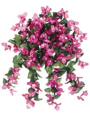 Set of 4 - Bougainvillea Silk Hanging Bushes - 26 inch length