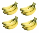 Set of 4 - Bunch of Artificial Bananas