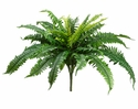 "22"" Artificial Boston Fern Bushes - Set of 6"