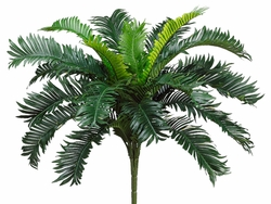 "Set of 6 - 22"" Artificial Cycas Palm Bush Plant"