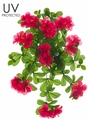 "Set of 6 - 23"" UV Protected Artificial Outdoor Azalea Hanging Flower Bushes"