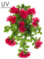 """Set of 6 - 23"""" UV Protected Artificial Outdoor Azalea Hanging Flower Bushes - Shown in Beauty"""