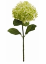 "Set of 6 - 30"" Silk Hydrangea Flower Stems (Shown in Green)"