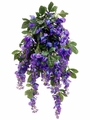 "Set of 6 - 31"" Artificial Silk Wisteria Flowering Bushes"