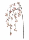 "Set of 6 - 58"" Artificial Silk Cherry Blossom Hanging Spray (Shown in Pink)"