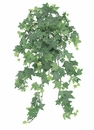 Silk Plant - 23 inch Artificial Flocked English Ivy Ledge Bush-Set of 3