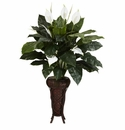 "57"" Spathyfillium with Decorative Stand Silk Plant"