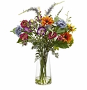 "24"" Spring Garden Floral Arrangement in Glass Vase"