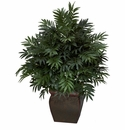 Triple Bamboo Palm w/Decorative Planter Silk Plant