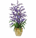 "32"" Triple Dancing Lady Silk Flower Arrangement - Purple"