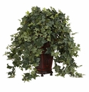 Vining Puff Ivy w/Decorative Vase Silk Plant