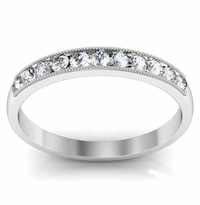 0.25cttw Round Diamond Milgrain Wedding Ring