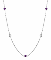 0.50 cttw in Amethysts and I1 Diamonds in a By the Inch Necklace