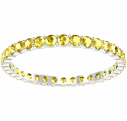 0.70 cttw Yellow Sapphire Eternity Ring