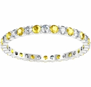 0.70cttw Diamond and Yellow Sapphire Eternity Band