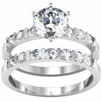 0.50cttw Round Diamond Channel Set Wedding Set