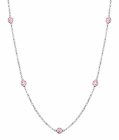 Strand of Pink Sapphires in the By the Inch Style