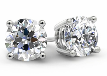 1 Carat Diamond Stud Earrings - click to enlarge
