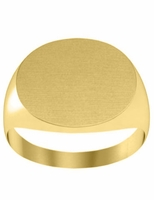 10mm by 12mm Oval Ladies Signet Ring